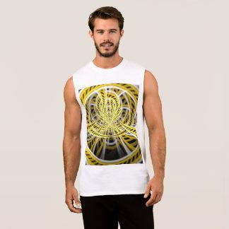Yellow Tape Roller Coaster Ride on Fractal Rails Sleeveless Shirt