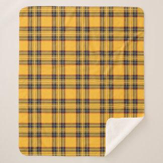 Yellow Tartan Plaid Sherpa Fleece Blanket