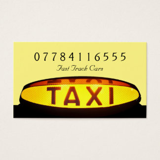 Yellow Taxi Cab Sign Business Card