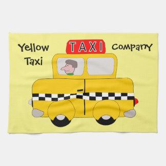 Yellow Taxi Custom Kitchen Towel