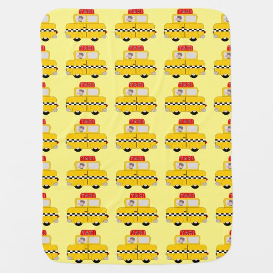 Yellow Taxi Design Receiving Blankets