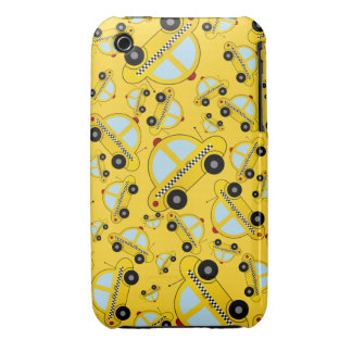 Yellow taxi pattern iPhone 3 cases