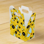 Yellow taxi pattern favor box