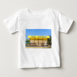 Yellow taxi station at coast in Greece Baby T-Shirt
