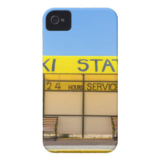 Yellow taxi station at coast in Greece Case-Mate iPhone 4 Case