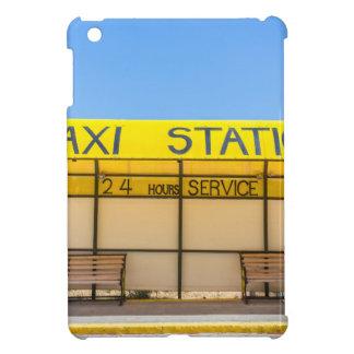 Yellow taxi station at coast in Greece iPad Mini Covers