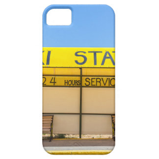 Yellow taxi station at coast in Greece iPhone 5 Cases