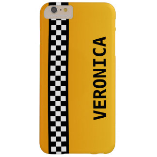 "Yellow Taxi Stripe ""Add Your Name"" Barely There iPhone 6 Plus Case"