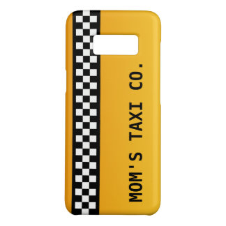 "Yellow Taxi Stripe ""Mom's Taxi Co."" Case-Mate Samsung Galaxy S8 Case"