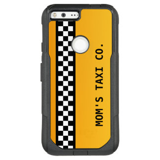 "Yellow Taxi Stripe ""Mom's Taxi Co."" OtterBox Commuter Google Pixel XL Case"