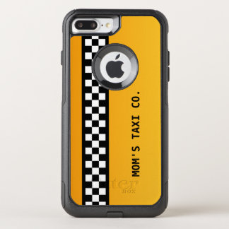 "Yellow Taxi Stripe ""Mom's Taxi Co."" OtterBox Commuter iPhone 7 Plus Case"