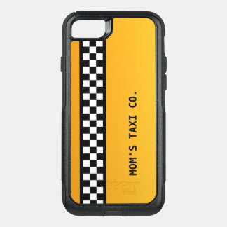 "Yellow Taxi Stripe ""Mom's Taxi Co."" OtterBox Commuter iPhone 8/7 Case"