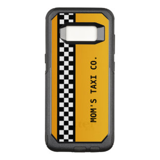 "Yellow Taxi Stripe ""Mom's Taxi Co."" OtterBox Commuter Samsung Galaxy S8 Case"