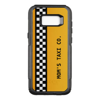 "Yellow Taxi Stripe ""Mom's Taxi Co."" OtterBox Commuter Samsung Galaxy S8+ Case"