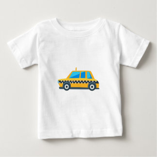 Yellow Taxi Toy Cute Car Icon. Flat Vector Baby T-Shirt