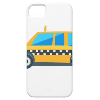 Yellow Taxi Toy Cute Car Icon. Flat Vector iPhone 5 Cases