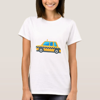 Yellow Taxi Toy Cute Car Icon. Flat Vector T-Shirt