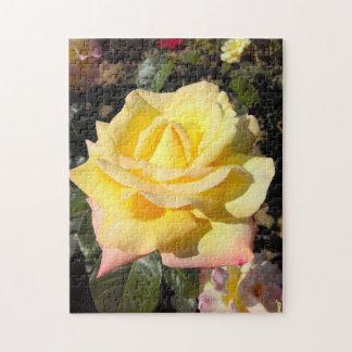 Yellow Tea Rose Jigsaw Puzzle