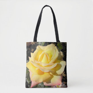 Yellow Tea Rose Tote Bag