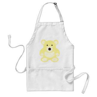 Yellow Teddy Bear Adult Apron