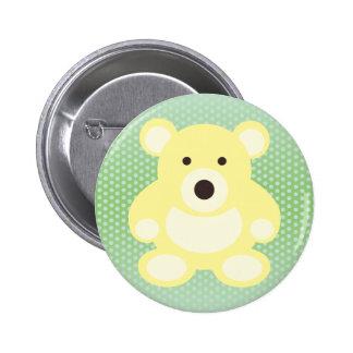 Yellow Teddy Bear Button