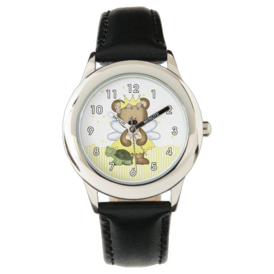 Yellow Teddy Bear Fairy Wristwatches