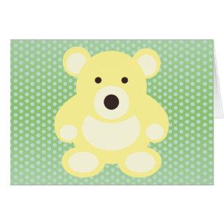 Yellow Teddy Bear Greeting Card