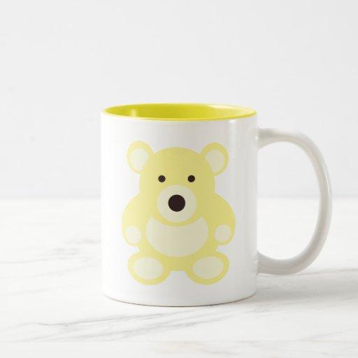 Yellow Teddy Bear Mugs