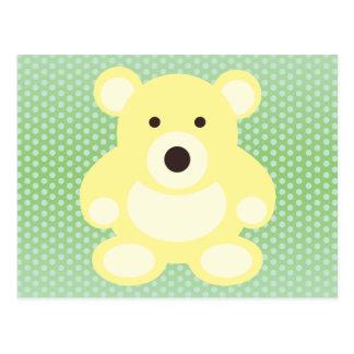 Yellow Teddy Bear Postcard