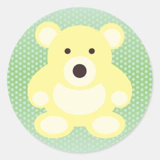 Yellow Teddy Bear Stickers