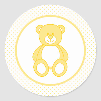 Yellow Teddy Bear Stickers