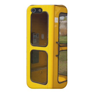 Yellow telephone booth case for iPhone 5
