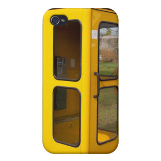 Yellow telephone booth covers for iPhone 4