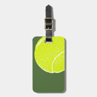 yellow tennis ball bag tag