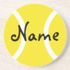 Yellow tennis ball coasters - Customizable gifts