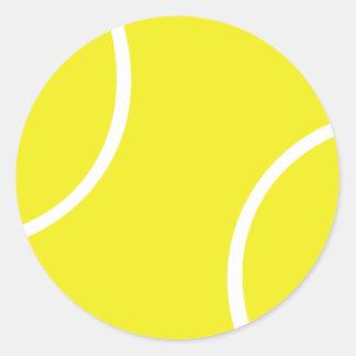 Yellow Tennis Ball Symbol Classic Round Sticker