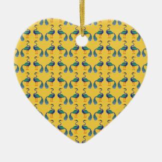 Yellow textile ceramic ornament