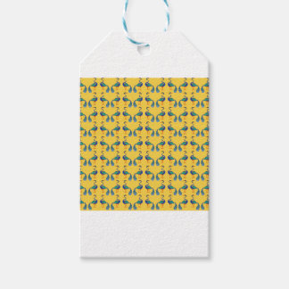 Yellow textile gift tags