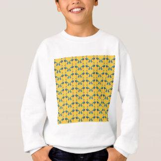 Yellow textile sweatshirt