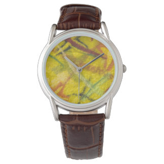 Yellow Textile Tribal Modern Unisex Watch
