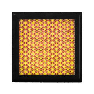 Yellow texture gift box