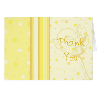 Yellow Thanks for Hosting Baby Shower Card