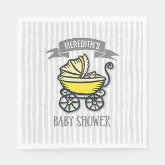 Yellow-Themed Baby Shower Disposable Napkins