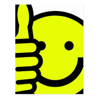 Yellow Thumbs Up Smiley Postcard