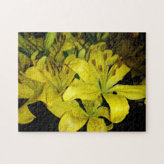 Yellow Tiger Lilies Jigsaw Puzzle