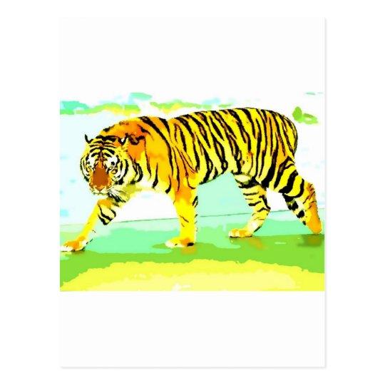 Yellow Tiger Postcard