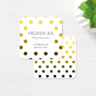 Yellow to Black Monochrome Dots Business Card