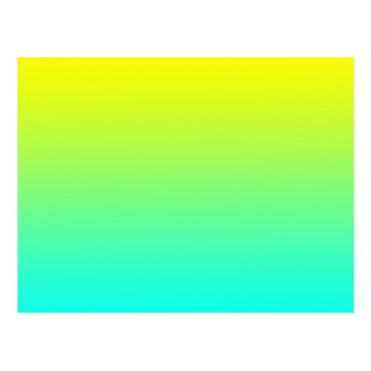 Yellow to Blue Gradient Gradation Island Breeze Postcard