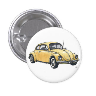 Yellow to car 1 inch round button