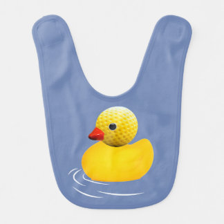 Yellow to rubber duck bib